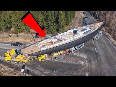 Yacht di 54 m trasportato con un Camion!