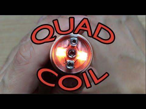 Quad Coil Build On Zenith V2 Rda Youtube