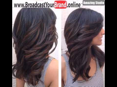 Layered Haircut For Long Hair With Side Swept Bangs Youtube