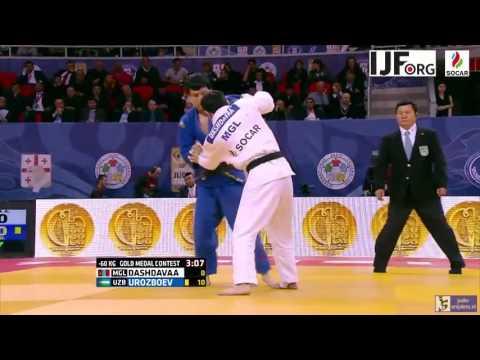 Judo 2016 Grand Prix Tbilisi: Dashdavaa (MGL) - Urozboev (UZB) [-60kg] final