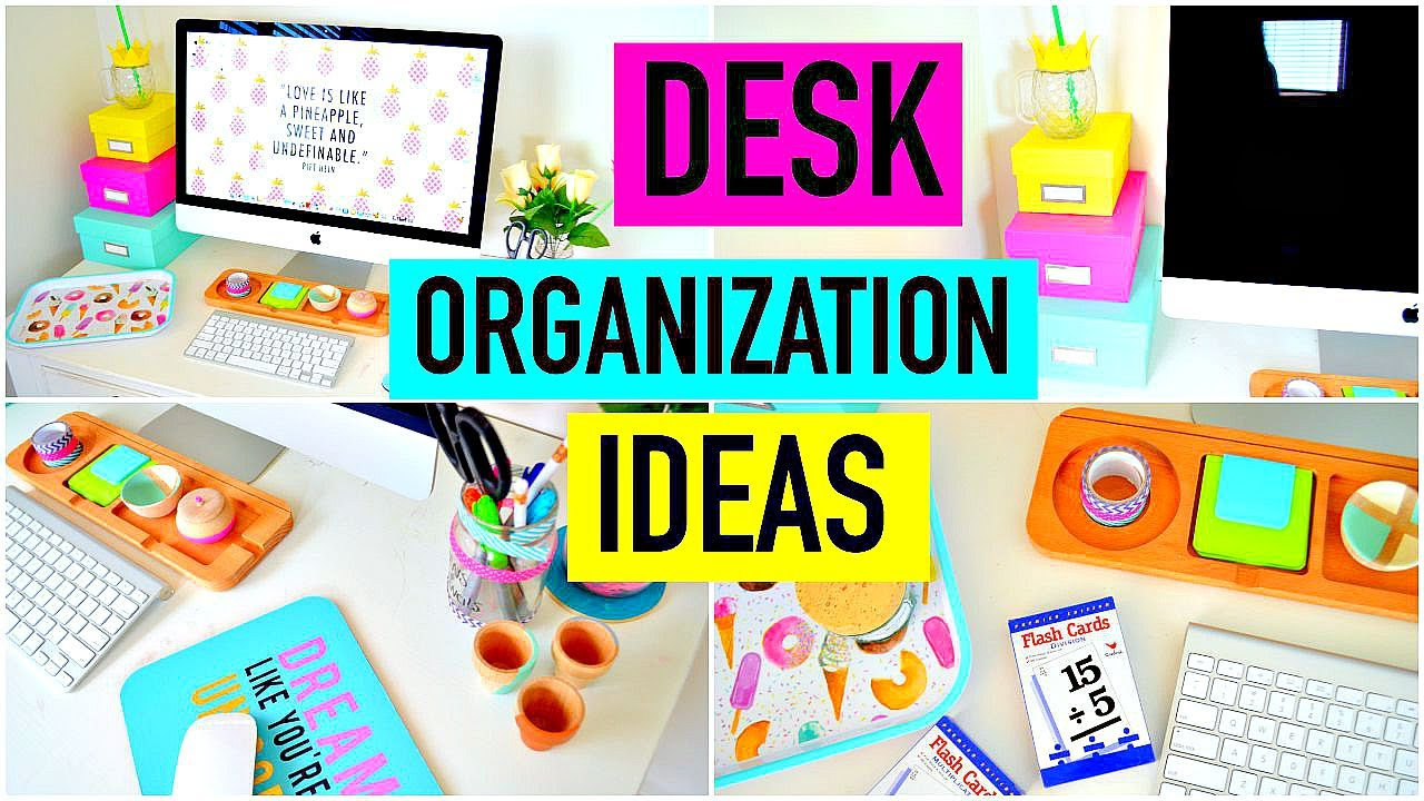 Desk organization ideas diy decor how to organize - How to organize your desk at home for school ...