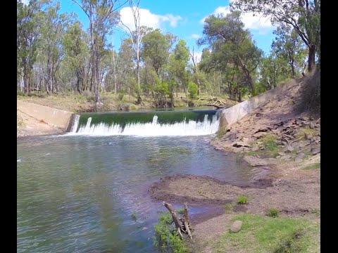 Nogoa River Weir - DJI f550 Multirotor Hexacopter Drone Aerial Video Filming H3-3D & GoPro