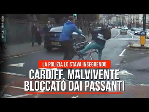 Cardiff, due passanti bloccano un malvivente in fuga