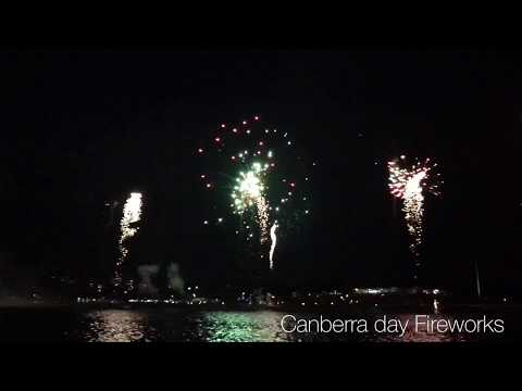 Australia Day Fireworks 2018 ,Canberra