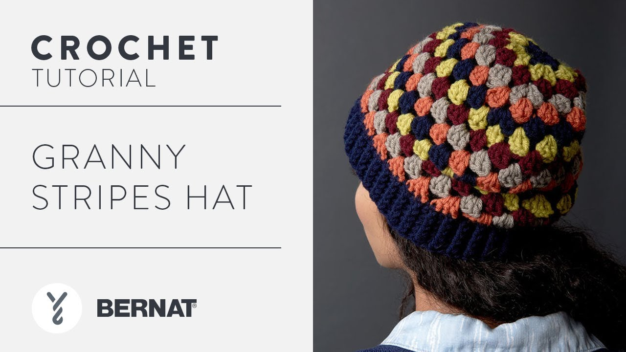 ea06e3105ed Crochet  Granny Stripes Hat Tutorial - YouTube