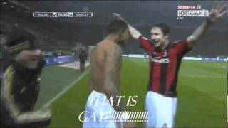 Ibrahimovic Hits kevin prince boateng So Hard And dude Touched His Ass!!! thumbnail