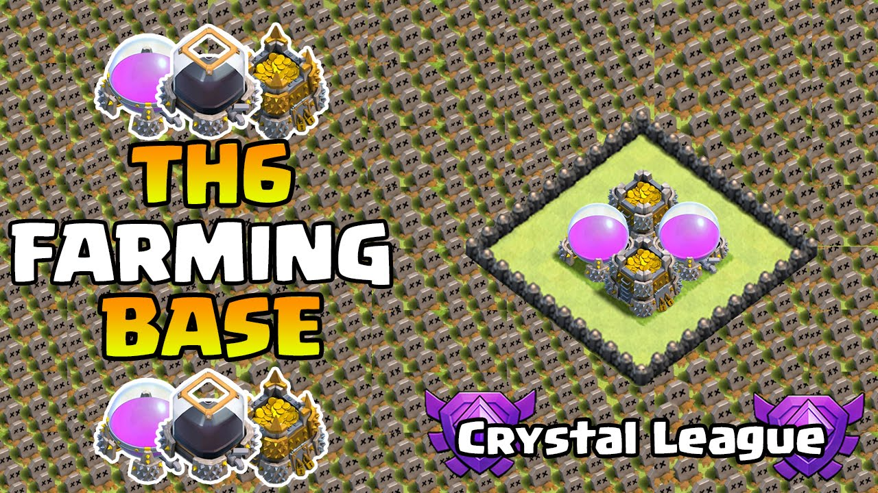 Hall 6 defence base coc th6 farming air sweeper 2015 youtube