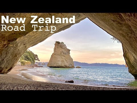 New Zealand Road Trip / Auckland To Coromandel Peninsula  - Cathedral Cove - Hot Water Beach
