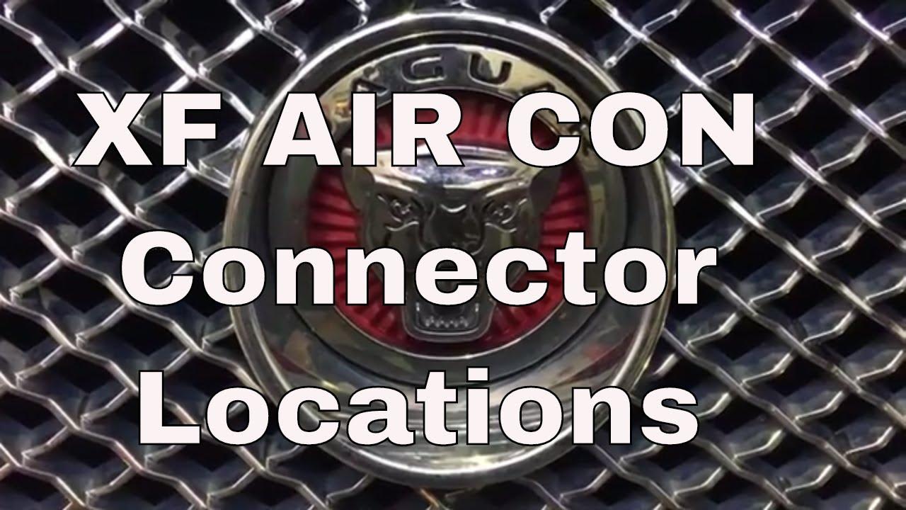 Jaguar XF Air Con A/C Connection Location for regas, recharge on
