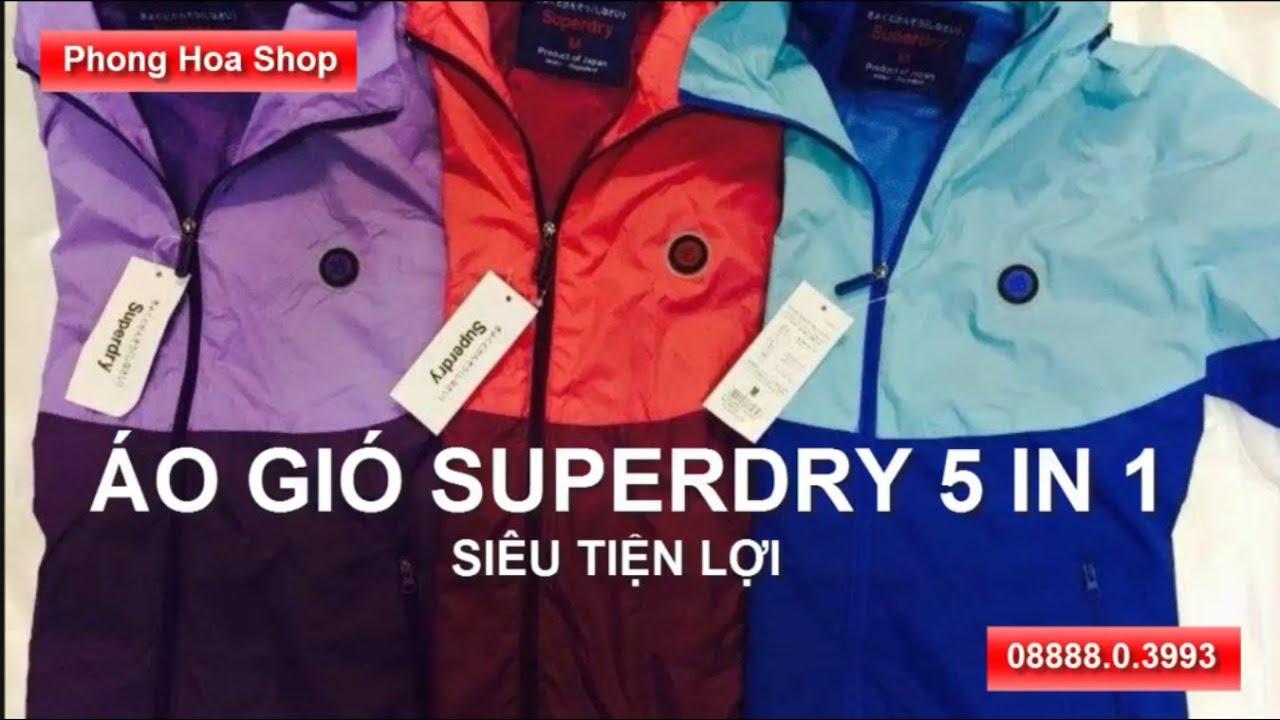 Quần áo xuất khẩu Hà Nội: Áo gió Superdry 5 in 1 siêu tiện lợi