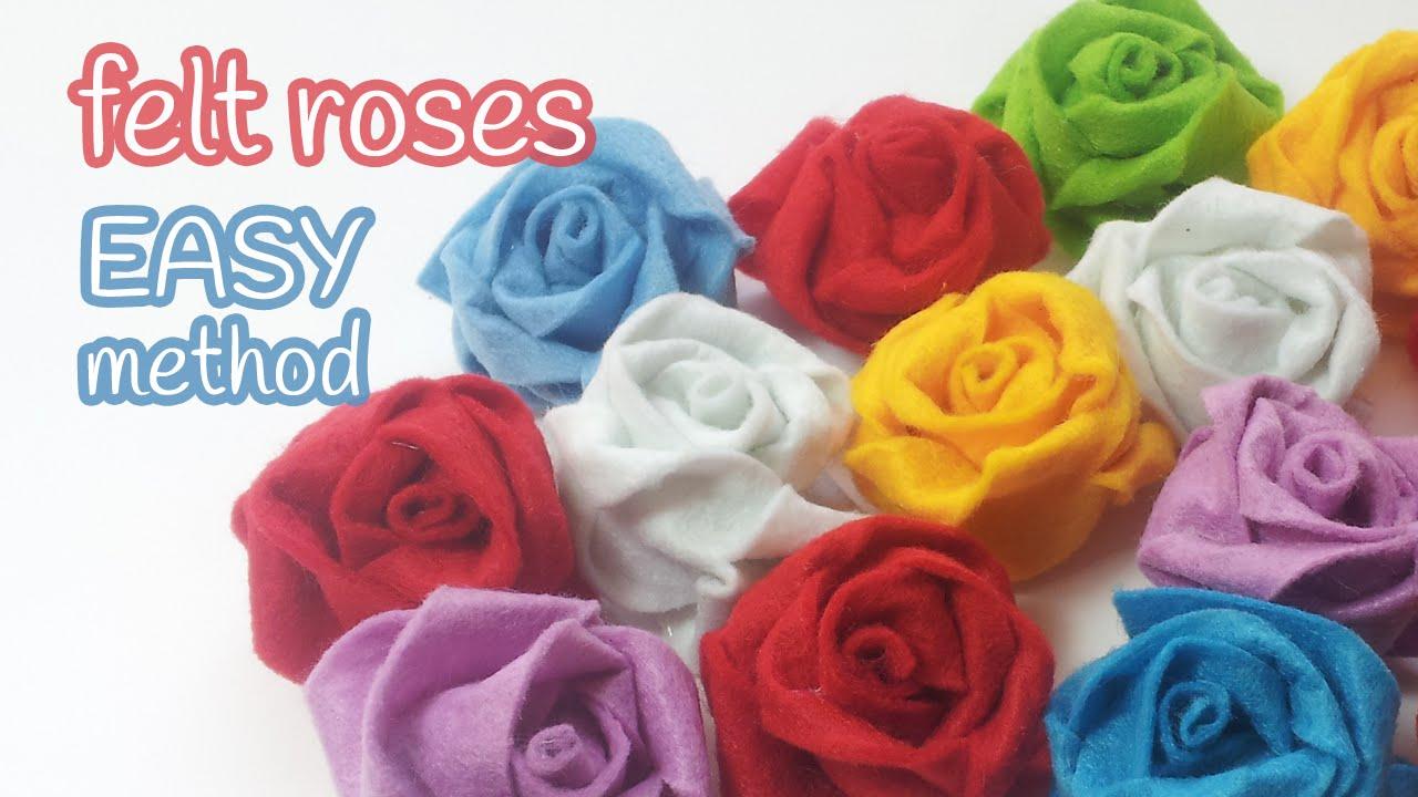 Diy crafts felt roses easy method innova crafts youtube mightylinksfo