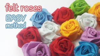 DIY crafts: FELT ROSES (easy method) - Innova Crafts
