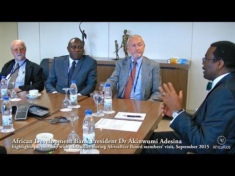 AfDB President Dr Akinwumi Adesina highlights partnership with AfricaRice