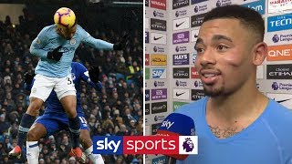 """He NEVER scores headers!""   Gabriel Jesus & Bernardo Silva review 3-1 win over Everton"