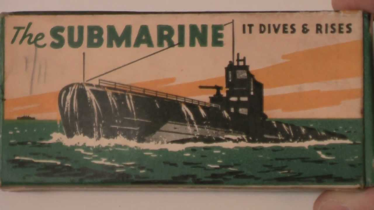 Submarine Toy Made by Tresco Products 1950\'s - YouTube