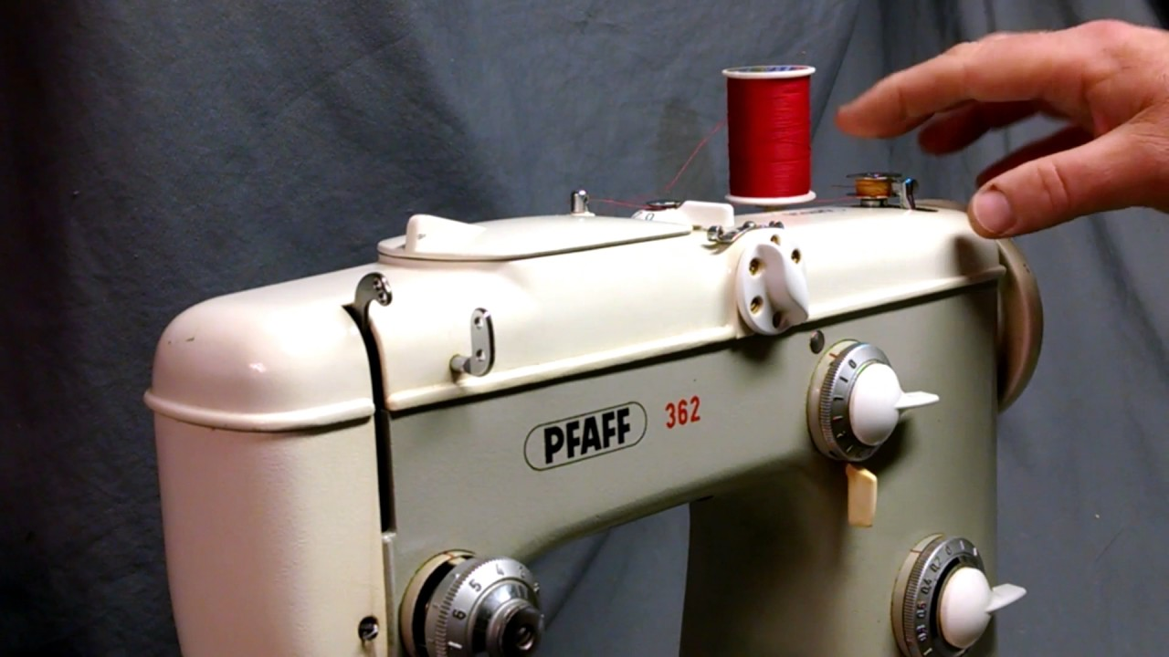 How To Wind Bobbin And Thread Case For Pfaff 360 362 230 332 Tutorials On Winding Your Threading Sewing Machine 338 The Treasure Cellar