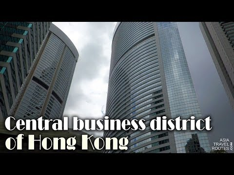 Central business district of Hong Kong