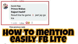 How to mention someone easily in facebook lite screenshot 4