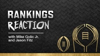 College Football Rankings Reaction