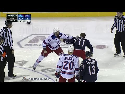 Rick Nash vs Matt Calvert Mar 21, 2014