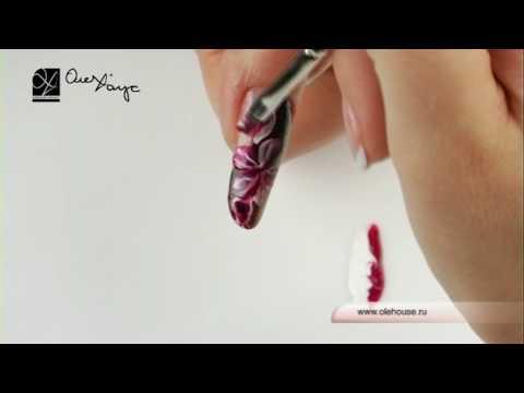 Дизайн ногтей. Дикая фиалка