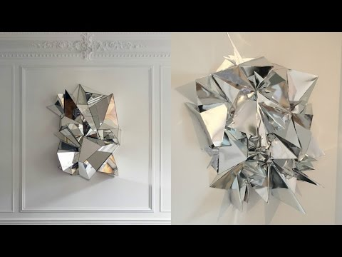 DIY Mirrored Geometric Mosaic Wall Art