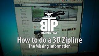 3DR Solo ZipLine in 3D (rise / fall)