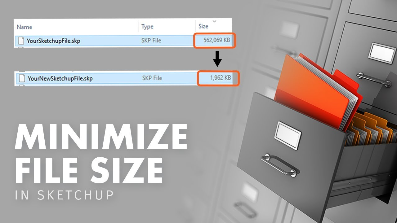 How To Reduce Sketchup File Size Youtube