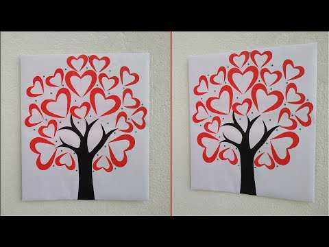 Beautiful heart wall decoration ideas|| Handmade wall hanging|| Easy paper crafts