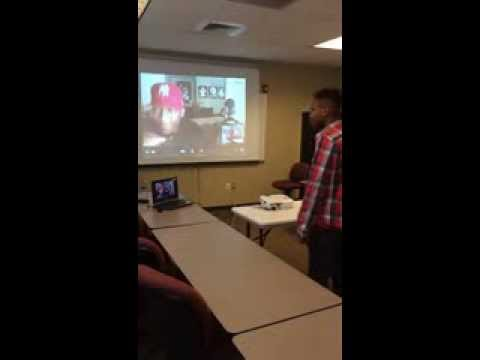 SIATech Moreno Valley Student Skypes with DJ Bobcat