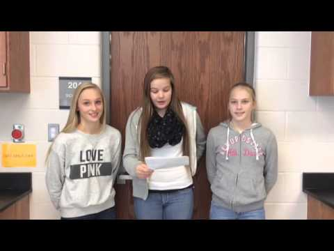Veteran's Day Tribute From: East Canton Middle School