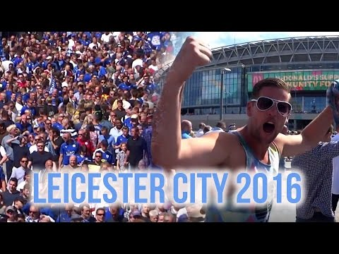 Epic Memories - Premier League Champions Leicester City Football Club Fans At Wembley  In 2016
