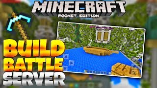 BEST MCPE BUILD BATTLE SERVER - Master Builders Minigame Server (Minecraft PE 1.1)
