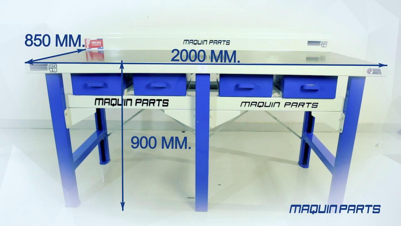 Mesa de trabajo met lica servicio pesado maquin parts youtube - Mesa de trabajo metalica ...