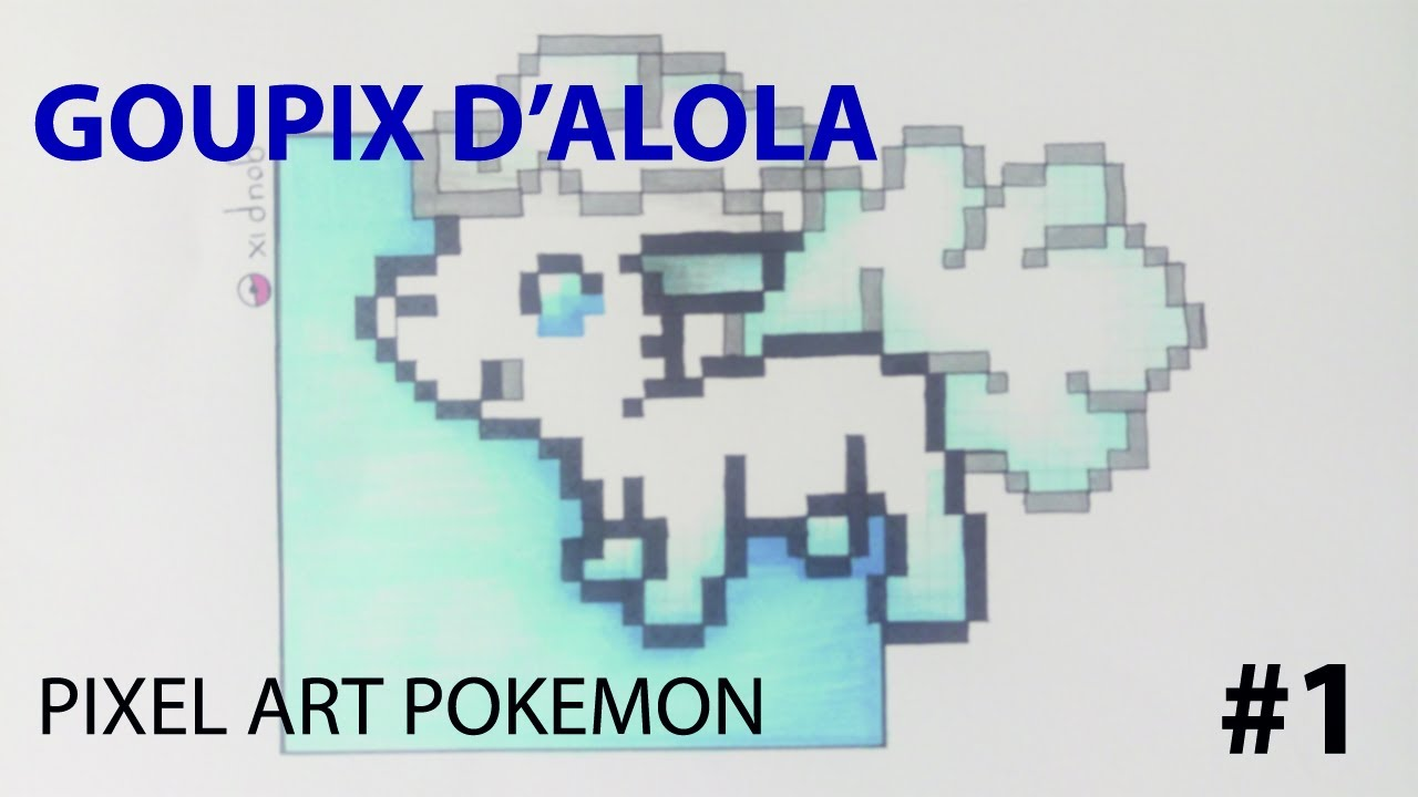 Pixel Art Pokemon 1 Goupix Dalola Speed Draw