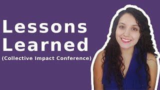 Collective Impact Forum (Lessons Learned)