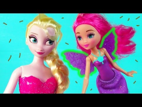 Disney Frozen Queen Elsa Barbie Fairy HURT WING Doll Play Part 1 Playing