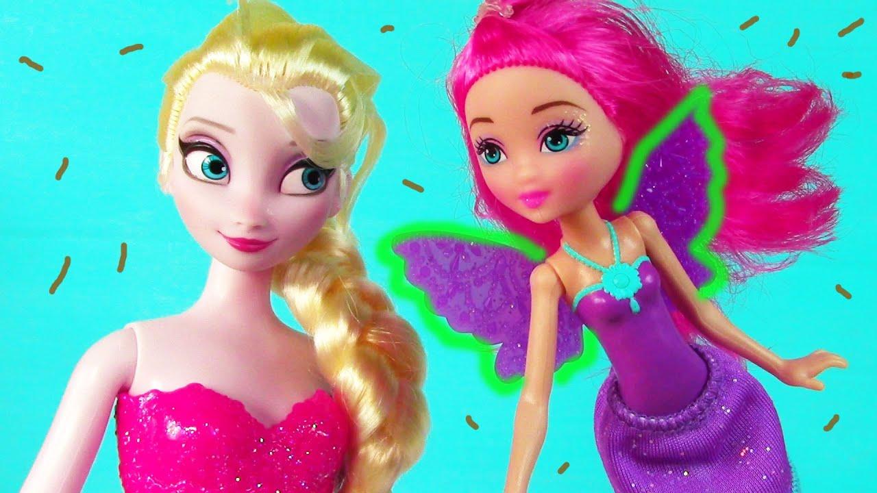 Disney Frozen Queen Elsa Barbie Fairy HURT WING Doll Play