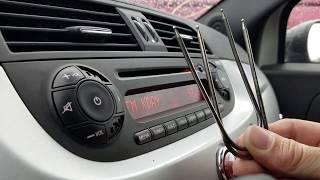 FIAT 500 How to Remove Radio