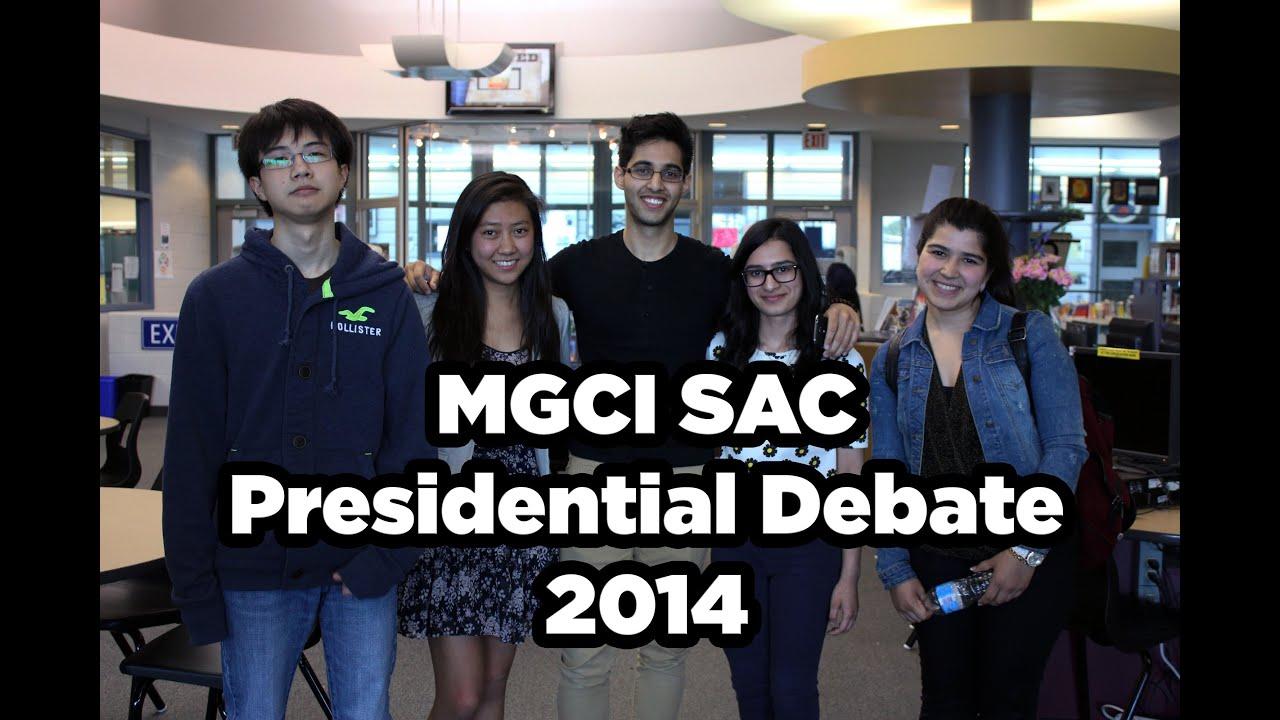 MGCI SAC Presidential Debate 2014 - YouTube