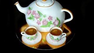 Торт чайник из мастики. Подробный МК - Teapot Cake -Torta de la masilla