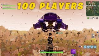 100 PLAYERS LANDED IN TILTED TOWERS! -Fortnite Funny Fails and WTF Moments! NEVER BEEN DONE MUST SEE