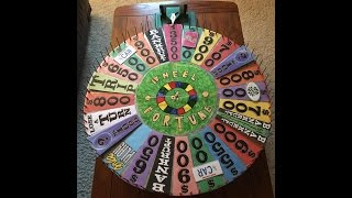 my completely restored homemade wheel of fortune round 2 demo spins