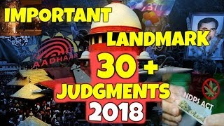 Important Landmark Judgments of Year 2018 Supreme Court of India (In Hindi)