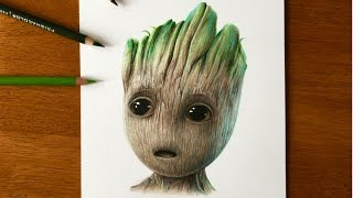 Drawing Baby Groot | Guardians of the Galaxy Vol.2 (2017)
