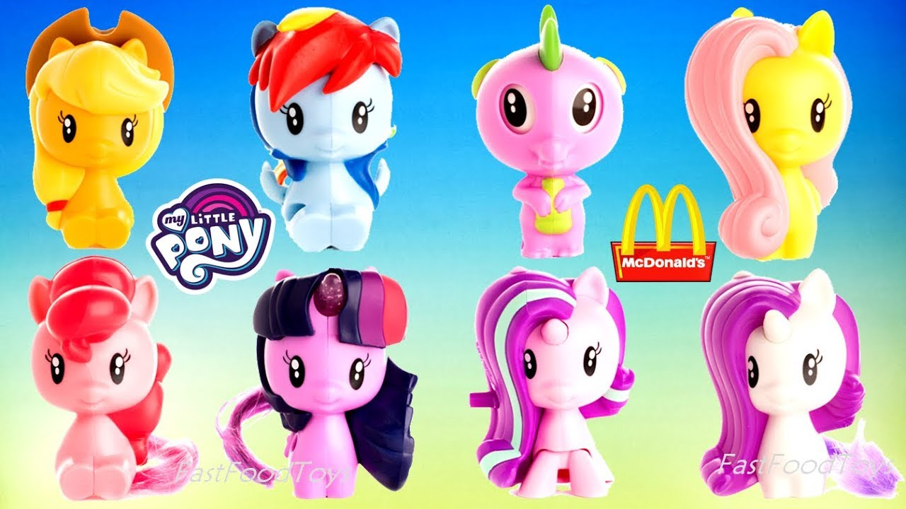 My Little Pony Toy Food : Mcdonald s my little pony happy meal toys mlp cutie