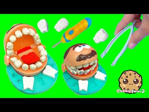 Doctor Barbie Doll Takes Care Of Playdoh Patient Dr. Drill N Fill Playset Video