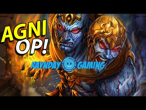 "SMITE - Agni Gameplay and Damage Build! THE ""HOT"" PLAYS!"