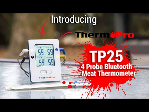 Introducing ThermoPro TP25 4 Probe Bluetooth Meat Thermometer with 500 Feet Range!