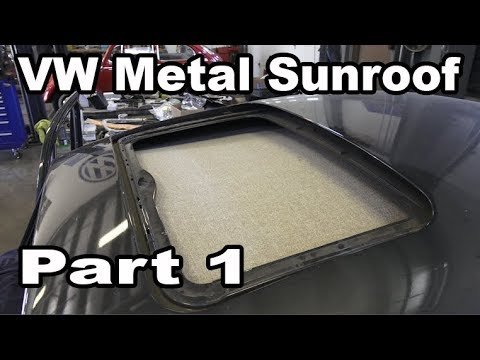 Classic VW BuGs How to Install Beetle Metal Sunroof Headliner Pt.1